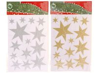 "Наклейки новогодние на окна ""звезды"" 21X35cm"