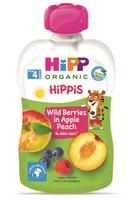 Hipp piure din mere, persic și fructe de pădure, 4+ luni, 100 g