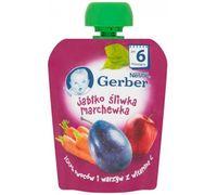Gerber пюре яблоко, слива и морковь,6+ мес, 90 гр