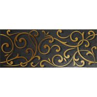 Argenta Декор Forge Black 20x50см