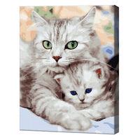 Mama-pisică și motănașul, 40х50 cm, pictură pe numere Articol: GX36536