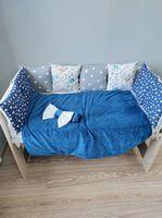Комплект постельного белья в кроватку Pampy Dark blue