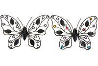 Бабочка декоративная металлическая с камнями 23X17cm
