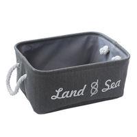 купить Коробка с морской тематикой 370x260x160 мм, серый в Кишинёве
