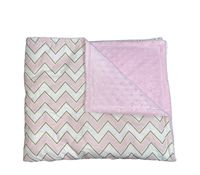 Плед утепленный плюшевый HB (100x80 см) Pink Zigzag