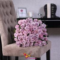 купить Букет из 51 фиолетовой  розы Ecuador 70-80 см в Кишинёве