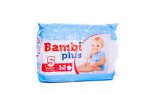Подгузники для детей BAMBI PLUS(5) 12 piecies (12-25 kg)
