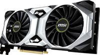 MSI GeForce RTX 2080 VENTUS 8G /  8GB GDDR6 256Bit 1800/14000Mhz, 1x HDMI, 3x DisplayPort, 1x USB Type-C, Dual fan - Customized Design (Double Ball Bearing/Smooth Heat Pipes), Gaming App, Retail