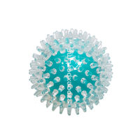 Мячик с пупырышками голубой 9 см