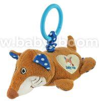 "Baby Mix STK-17755B Плюшевая игрушка с вибрацией ""Лиса"" голубой"