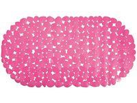 """Коврик для ванны 35X68cm """"Галька"""" овал, розовый, PVC"""