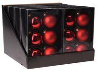 купить Набор шаров 6X65mm, 3матов, 3глянц, красных класс, в коробке в Кишинёве