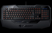ROCCAT Isku FX (Black) / Multicolor Gaming Keyboard, Extra-large wrist rest, 8+3 programmable keys, Multicolor key illumination (6-level brightness), MACRO LIVE! Recording, EASY-SHIFT[+]™, USB