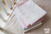 Непромокаемая пеленка Special Baby 75х50 см розовые звезды
