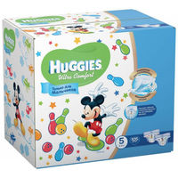 Huggies scutece Ultra Comfort Disney Box pentru baieței 5, 12-22 kg, 105 buc.