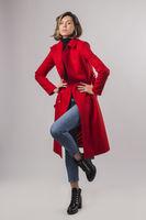 купить Пальто женское красное в Кишинёве