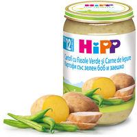 Piure cartofi cu fasole verde și carne de iepure Hipp (12+ luni), 220g
