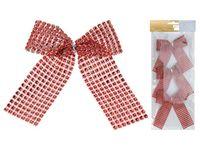 купить Банты декоративные 3шт 12.5сm, красные с блетсками в Кишинёве