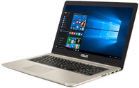 """NB ASUS 15.6"""" N580VD (Core i5-7300HQ 8Gb 256Gb+1Tb) 15.6"""" IPS Full HD (1920x1080) Non-glare, Intel Core i5-7300HQ (4x Core, 2.5GHz - 3.5GHz, 6Mb), 8Gb (1x 8Gb) PC4-17000, 256Gb M.2 + 1Tb 5400rpm, GeForce GTX 1050 4Gb, HDMI, Gbit Ethernet, 802.11ac, Bluetooth, 1x USB 3.1 Type C, 1x USB 3.0, 2x USB 2.0, Card Reader, HD Webcam, Endless OS, 3-cell 47 WHrs Battery, Illuminated Keyboard, 2.0kg, Gold Metal"""