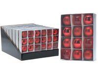 Набор шаров 12X50mm, красные, в коробке