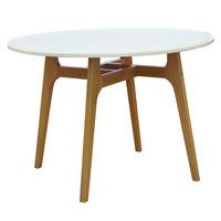 купить Пластиковый стол с деревяннами ножками, 1000x1000x710 мм, белый в Кишинёве