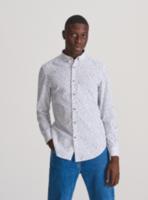 Рубашка RESERVED Белый с принтом