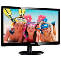 "19.5"" Philips ""200V4QSBR"", G.Black (MVA, Full-HD, 8ms, 250cd, LED10M:1, D-Sub+DVI)"