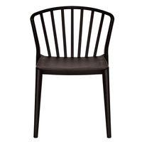 купить Пластиковый стул 550.5x570.5x780 мм, черный в Кишинёве