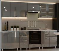 Bucătărie Bafimob Iulia (High Gloss) 2.6m Grey