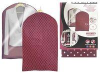 Чехол для одежды 60X100cm тканевый, бордо
