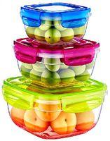 Аксессуар для кухни Dunya Plastik 30242 Набор контейнеров 3шт.