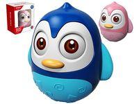 Неваляшка Пингвин синий, розовый