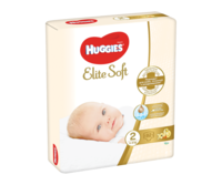Подгузники Huggies Elite Soft Mega 2 (3-6 kg), 82 шт.
