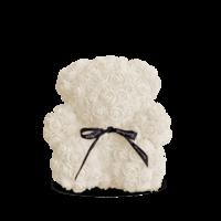 купить Медведь из белых   роз 25 см в Кишинёве