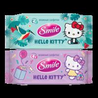 Влажные салфетки Smile Hello Kitty, 60 шт.