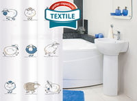 Штора в ванную комнату TATKRAFT FUNNY SHEEP TEXTILE 14862