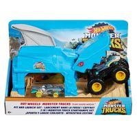 Mattel Hot Wheels Monster Trucks Набор Пусковой гараж