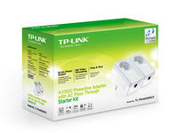 cumpără TP-LINK TL-PA4010P Starter Kit, AV500 Powerline  Adapter with AC Pass Through Starter Kit, Ultra Compact Size, 500Mbps Powerline Datarate,  100Mbps Fast Ethernet, HomePlug AV, Green Powerline,  Plug and Play, Twin Pack în Chișinău
