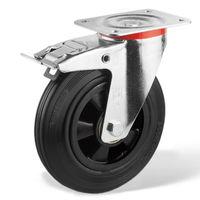 Колесо поворотное с тормозом – Ø160mm