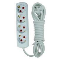 купить Удлинитель 4 входа, с заземлением+выключатель 3м 3*1(12шт./к)(200.403.402) в Кишинёве