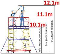 купить Передвижная модульная вышка ВСР (2,0x2,0) 1+8 в Кишинёве