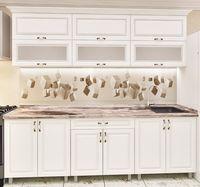 Кухонный гарнитур Bafimob Modern MDF 2.4m glass White