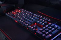 Kingston HyperX Alloy FPS Mechanical Gaming Keyboard (RU), Mechanical keys (Cherry® MX Blue key switch) Backlight (Red), 100% anti-ghosting, Key rollover: 6-key / N-key modes, Ultra-portable design, Solid-steel frame, Convenient USB charge port, USB