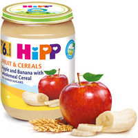 Hipp пюре яблоко и банан с мультизлаками, 6+мес. 190г