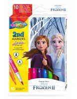 Set de carioci 2 în 1, 10 culori- Colorino Disney Frozen