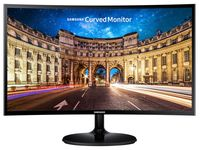 """23.6"""" SAMSUNG """"C24F390FHU"""", G.Black/Blue (Curved-VA, 1920x1080, 4ms, 250cd, LED Mega-DCR, HDMI) (23.5"""" Curved-VA LED, 1920x1080 Full-HD, 0.271mm, 4ms (GtG), 250 cd/m², Mega ∞ DCR (1000:1), 16.7M, 178°/178° @CR>10, D-Sub + HDMI, HDMI Audio-In, Headphone-Out, External Power Adapter, Fixed Stand (Tilt -2/+15°), Magicbright, Magicupscale, Eco saving plus, Eye saver mode, Flicker free, Game mode,  Glossy-Black)"""