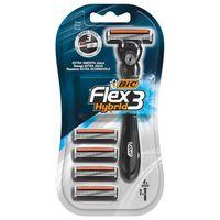 Бритвенная система BIC Flex3 Hybrid с 4 сменными кассетами.