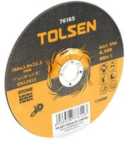 купить Диск отрезной по камню 115 х 3,0 х 22,2мм TOLSEN в Кишинёве