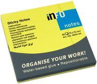 Info Notes Бумага клейкая INFO 75x75мм, 80 листов неон желтый