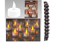 Набор свечей имитац чайных LED 4шт, бел